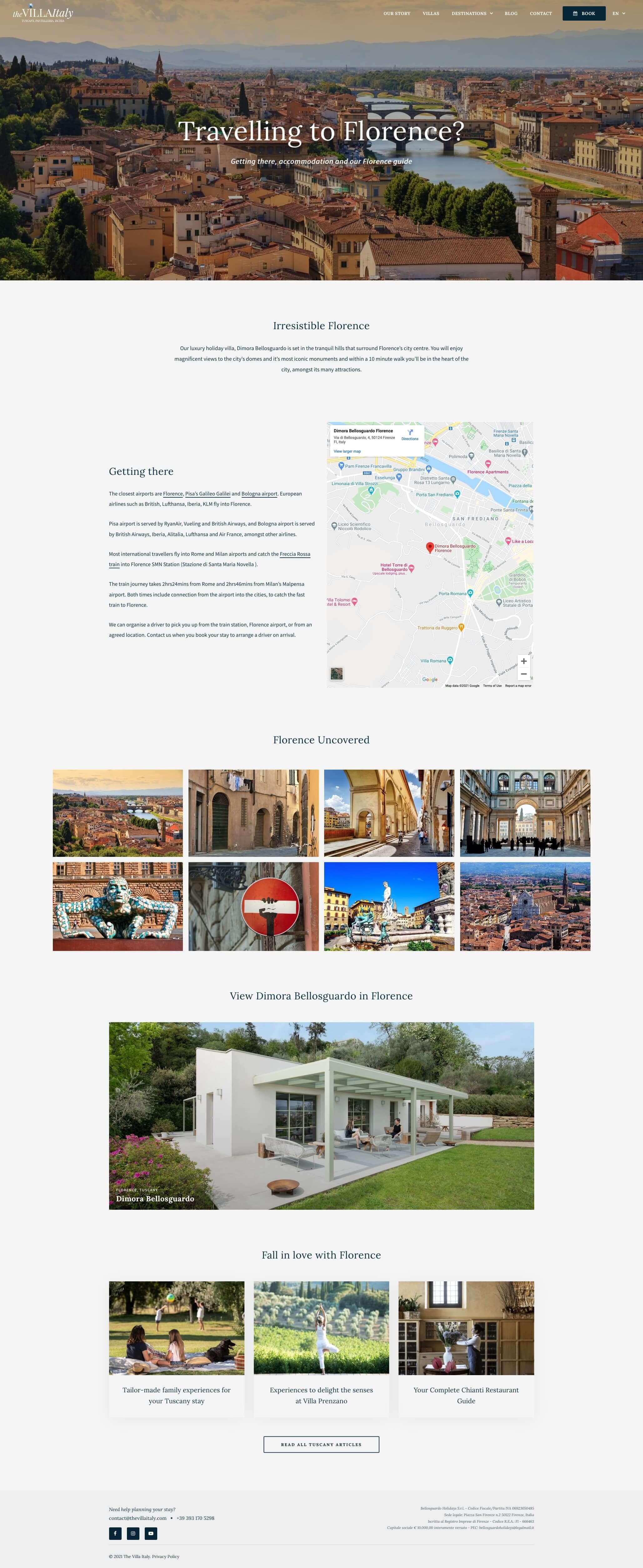 WordPress Website Design & Development - Destination Page - The Villa Italy