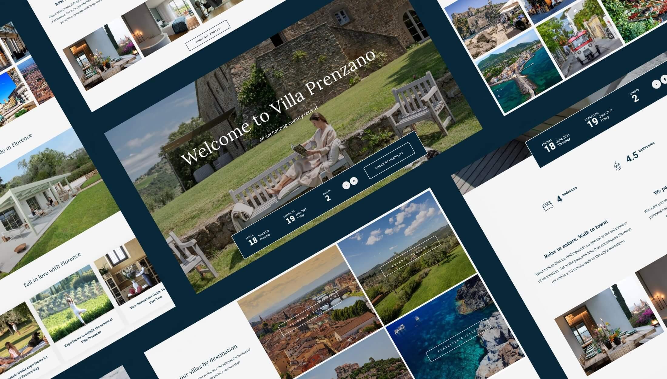 Custom WordPress Website Design & Development - The Villa Italy