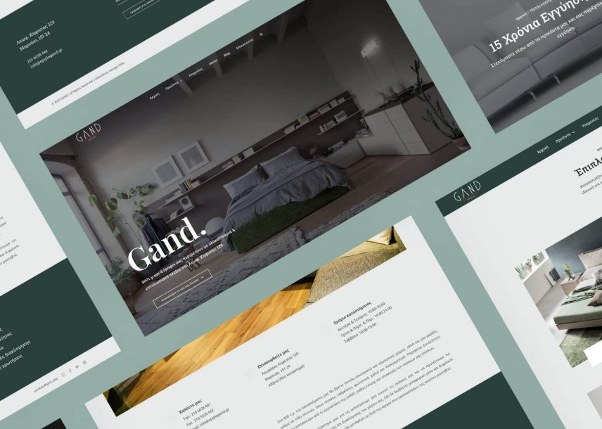 Custom Website Design & Development - Gand Furniture