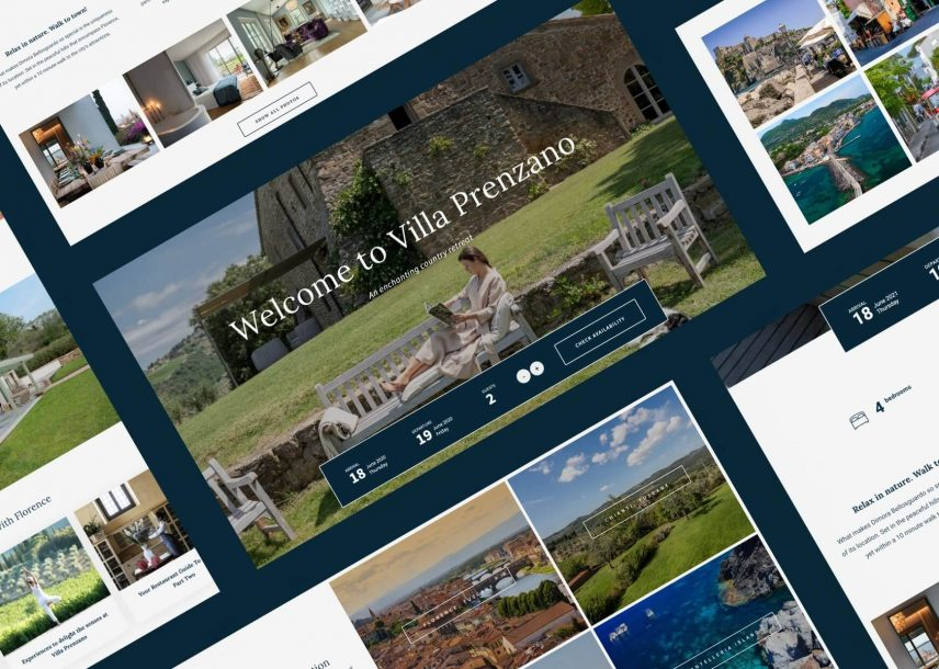 Custom Website Design & Development - The Villa Italy
