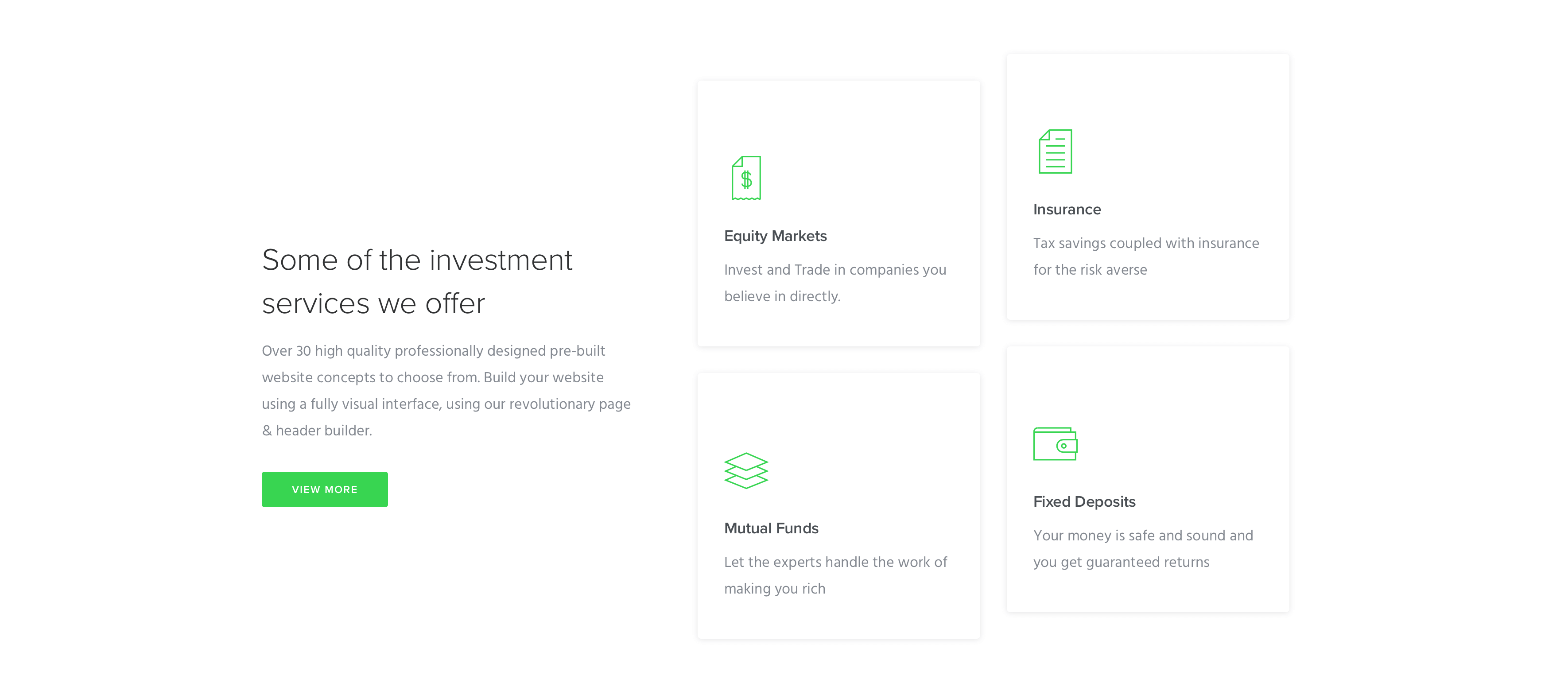 Website design - Use of icons