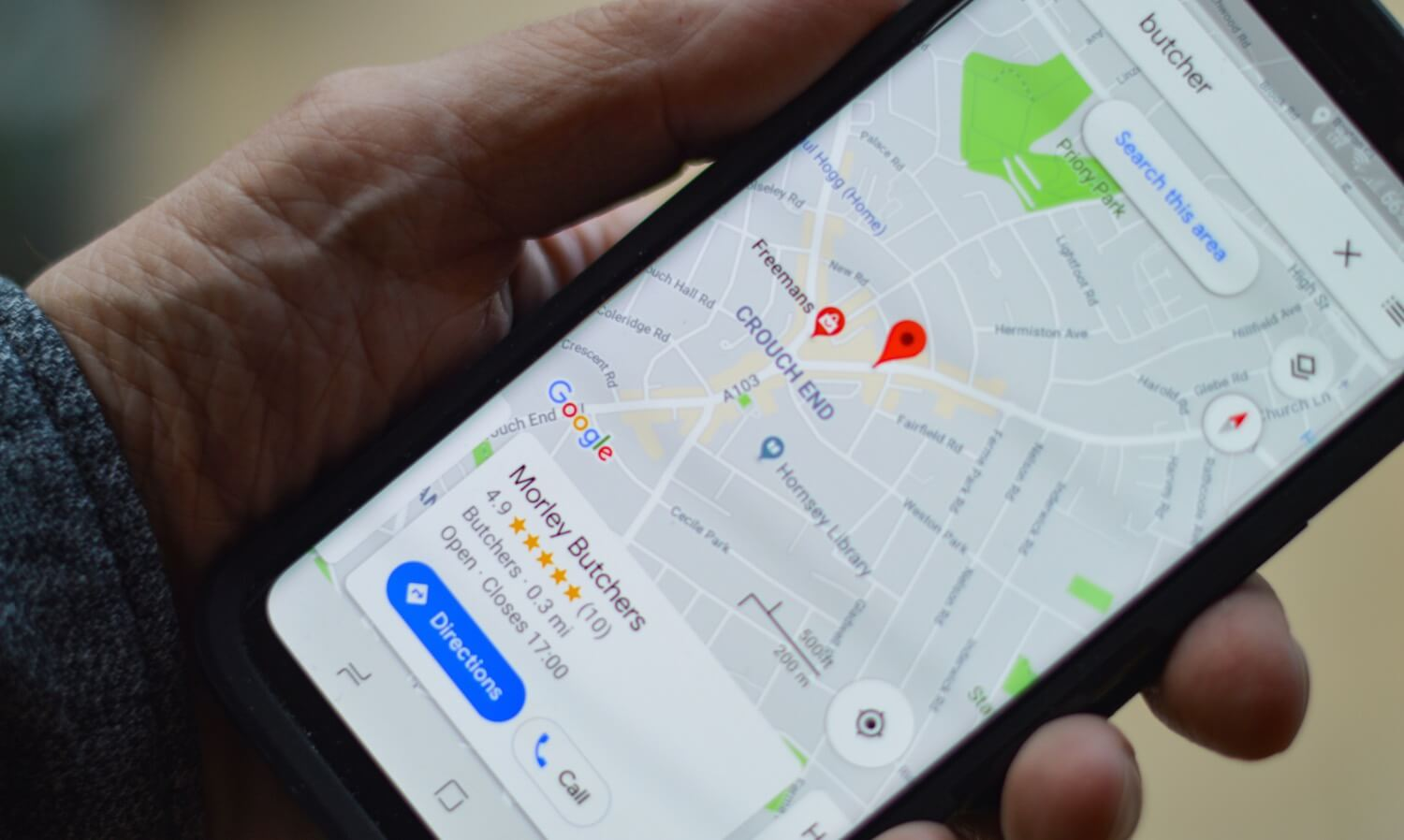 WordPress Local SEO - Search from Mobile Phone